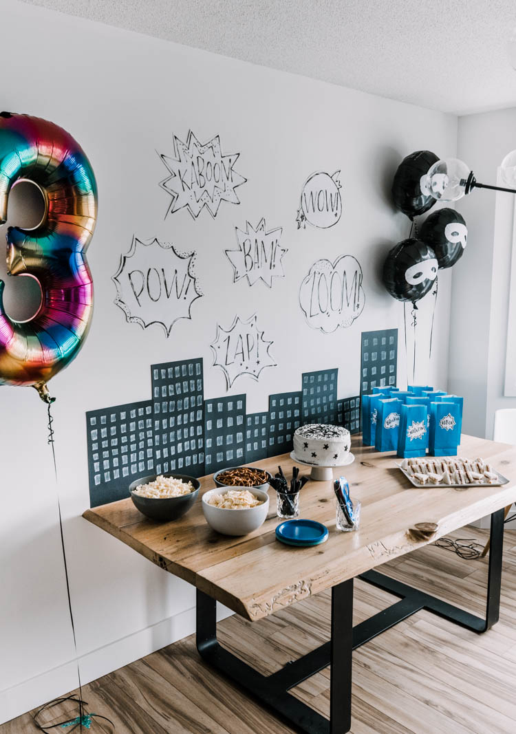 Superhero birthday party- such a fun boys birthday party using only decor from the dollar store!