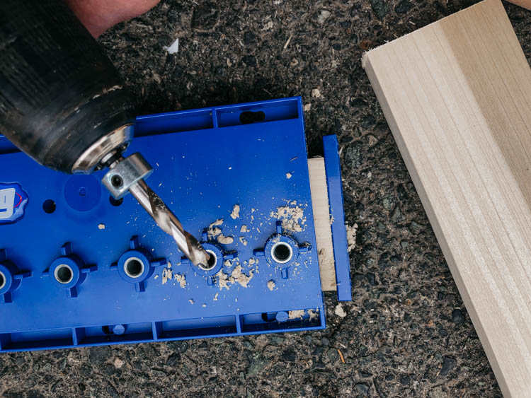 Drilling evenly spaced holes with the Kreg Shelf Pin Jig