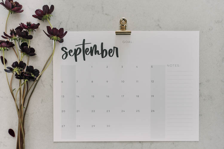 Free Printable calendars for 2020