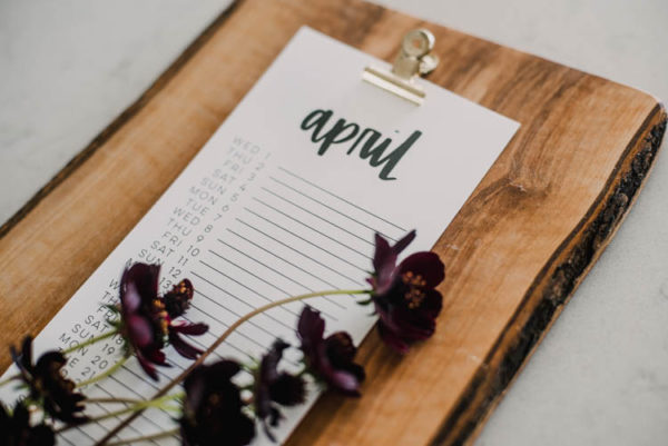 List style calendar free printable