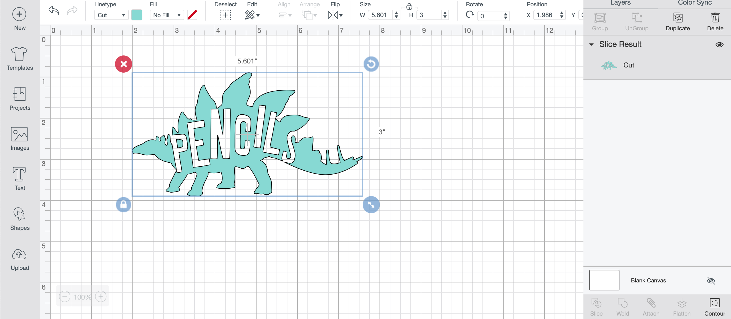 How to create knockout designs with text in images with Cricut Design Space