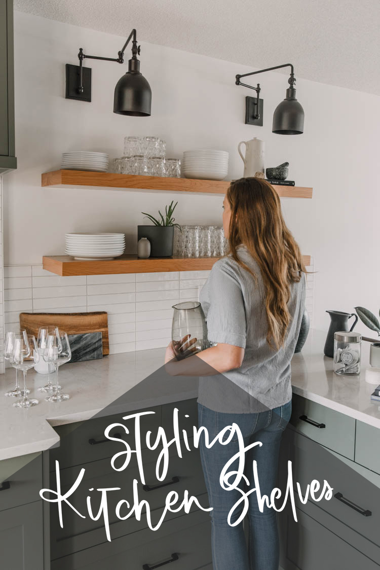 Tips for styling open kitchen shelves... to not only look beautiful but be super functional!