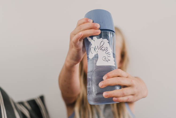 DIY Kids waterbottle labels and how to make your own knockout name design