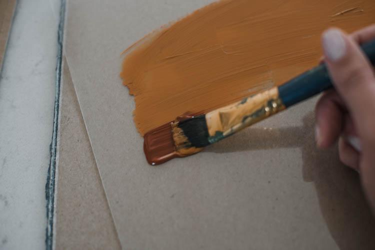 DIY Ombre acrylic painting... on clear acrylic- so pretty!