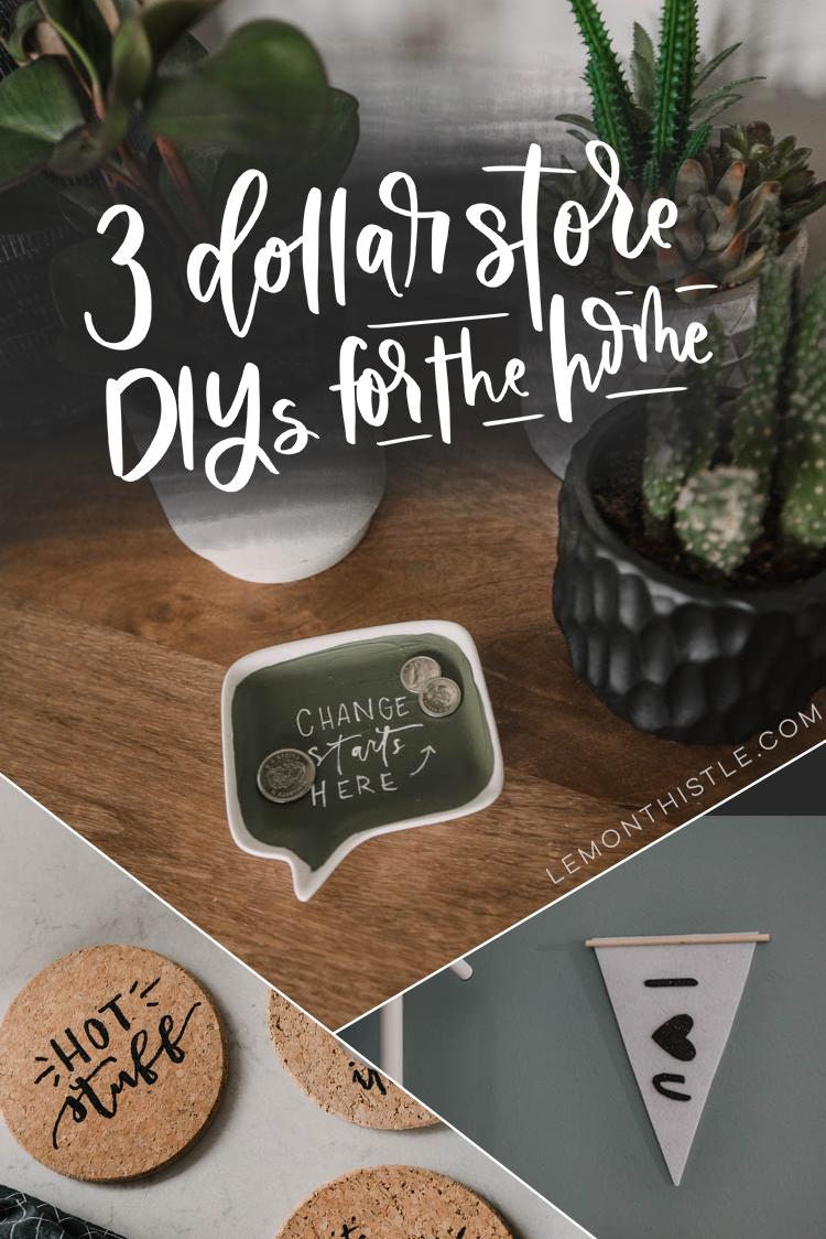 3 Dollar Store Diy Ideas For The Home Lemon Thistle