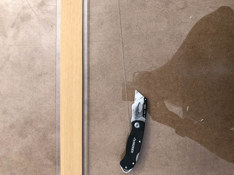 How to cut acrylic for saw blade storage dividers