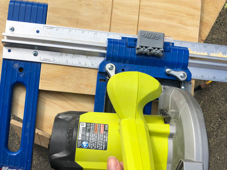 Use a shallow depth circular saw instead of a plunge router to cut grooves in plywood