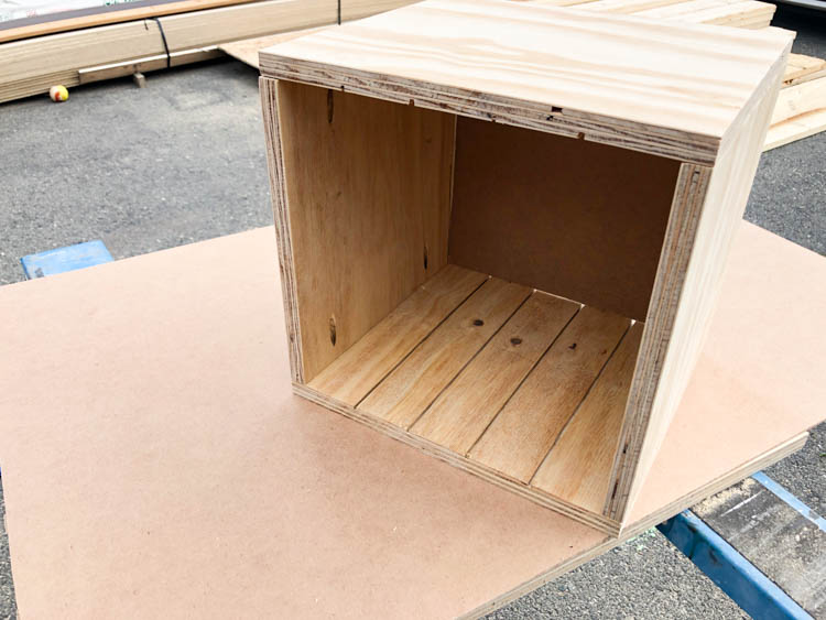 DIY Saw Blade Storage Box before dividers are inserted