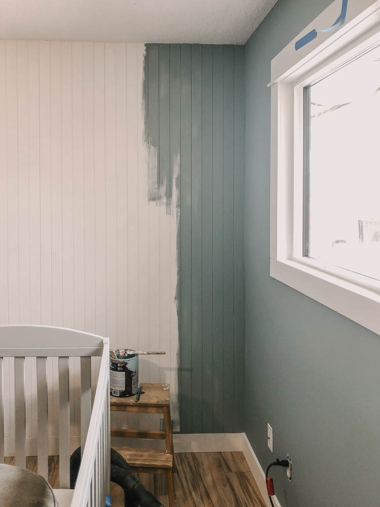 Why you definitely shouldn't paint shiplap by hand (we did)