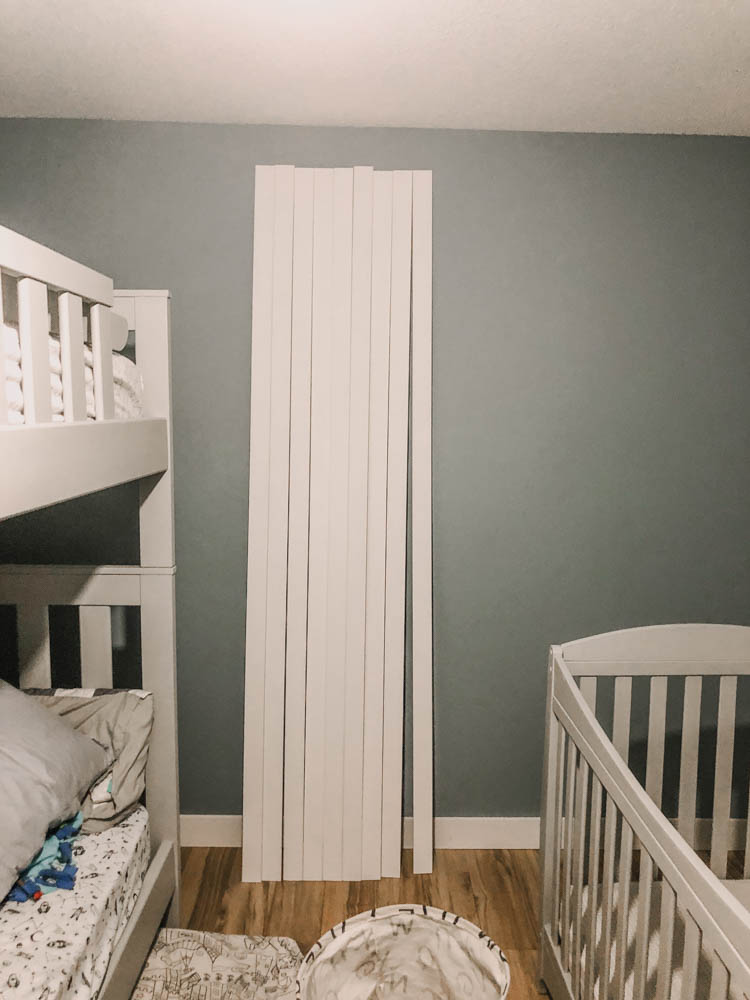 The EASIEST way to put together a DIY skinny vertical shiplap wall