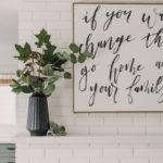 Simple Fall Mantel (thoughts on less is more in home decor)