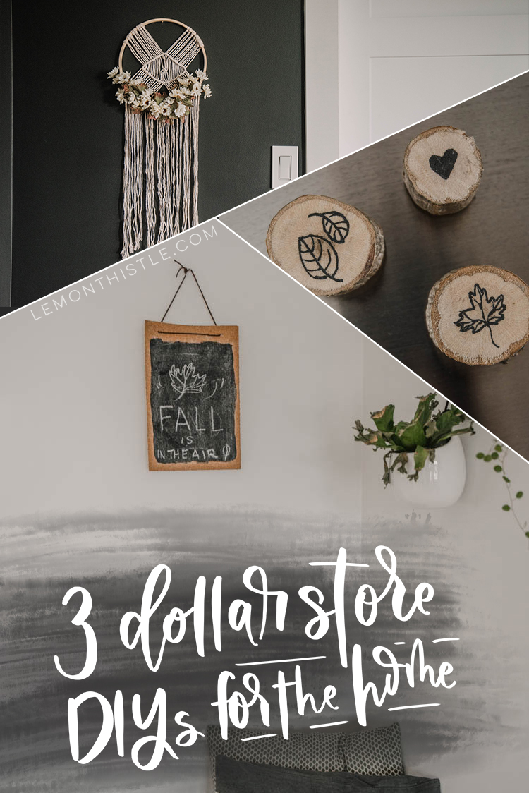 Dollar store DIYs for fall- LOVE this macrame hack