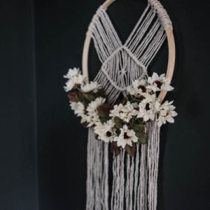 DIY Dollar Store Macrame Project- such a great hack for cheap macrame!