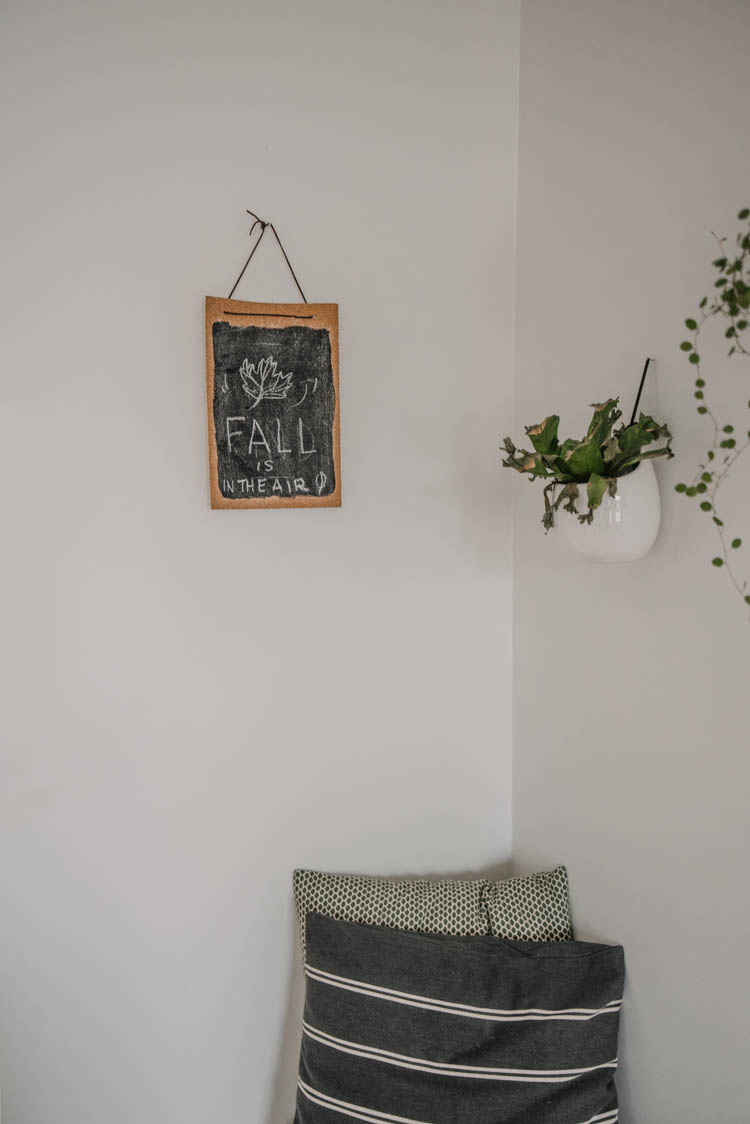 DIY Cork Chalkboard- Simple dollar store DIY for home decor