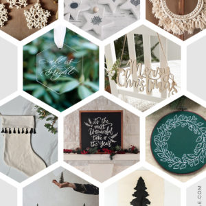 Modern Handmade Holiday Decor from etsy