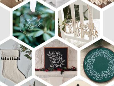 Modern Handmade Holiday Decor from etsy
