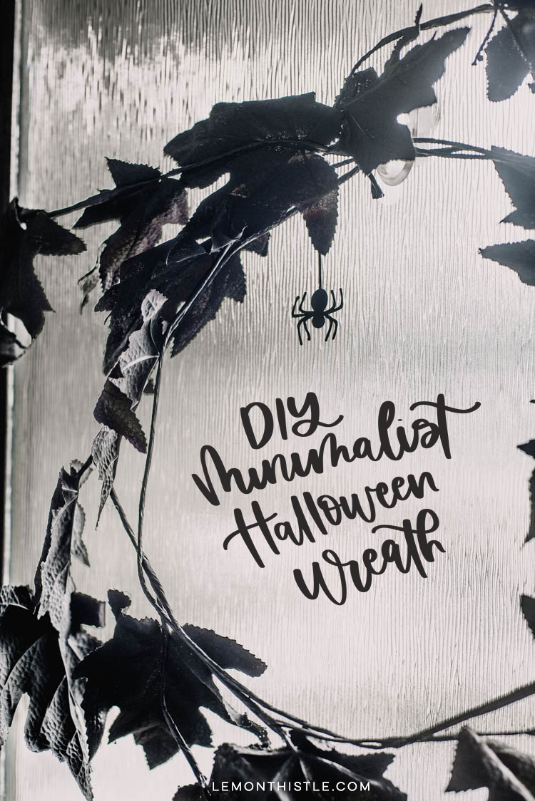 DIY Minimalist Halloween Wreath- title image