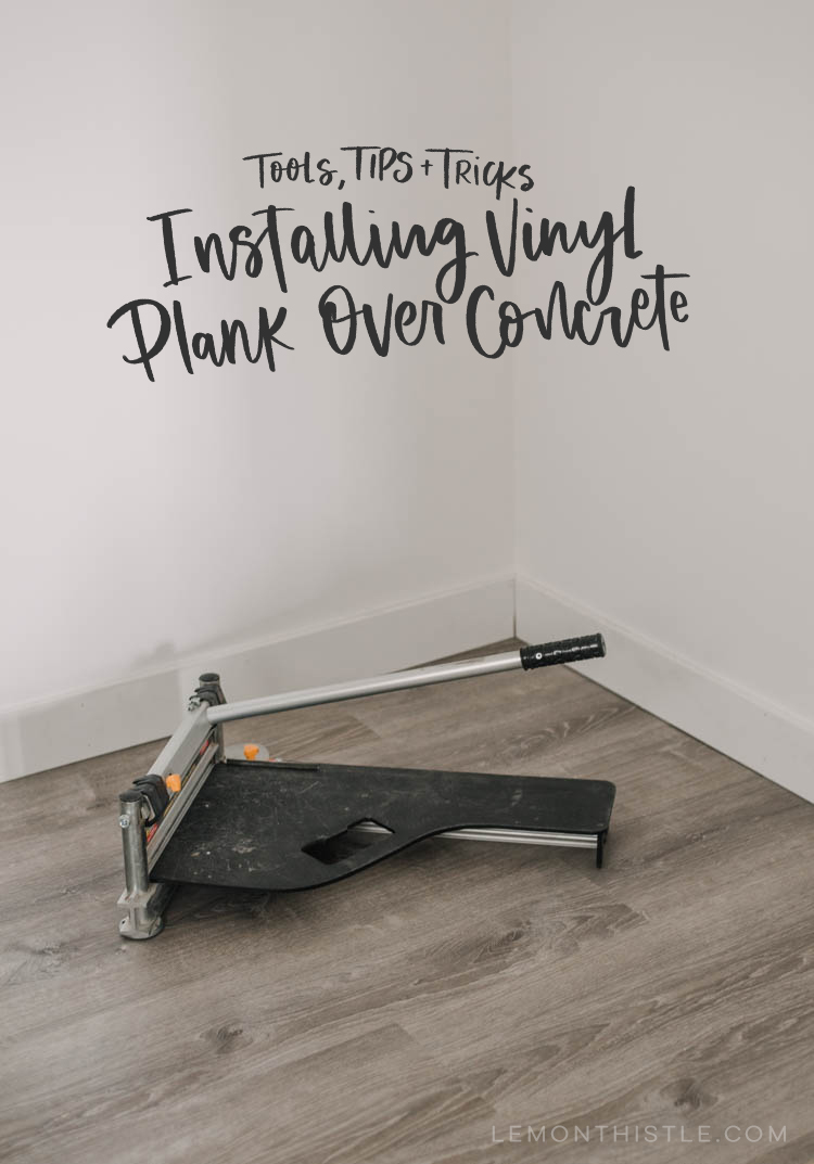 Tips for installing vinyl plank over concrete floors- great ideas in here!