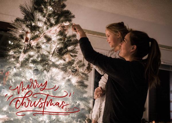 merry christmas digital holiday card design