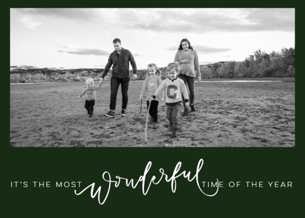 its the most wonderful time of the year holiday card design (digital download)