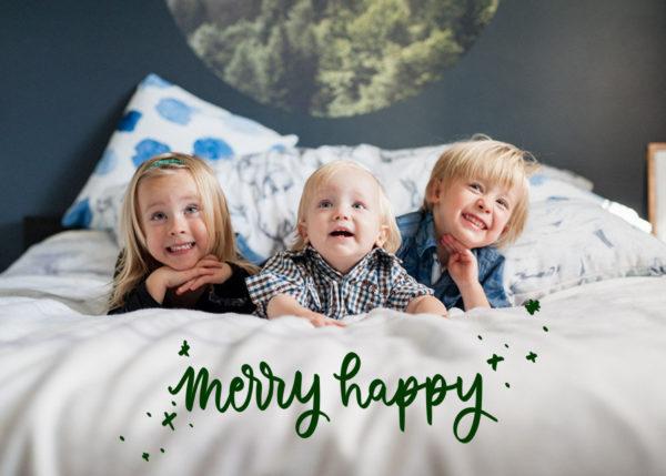 merry happy holiday card design (digital!)