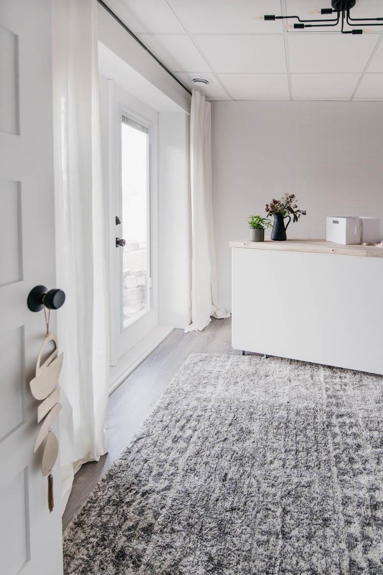 Basement studio reveal- full of diy storage and decor