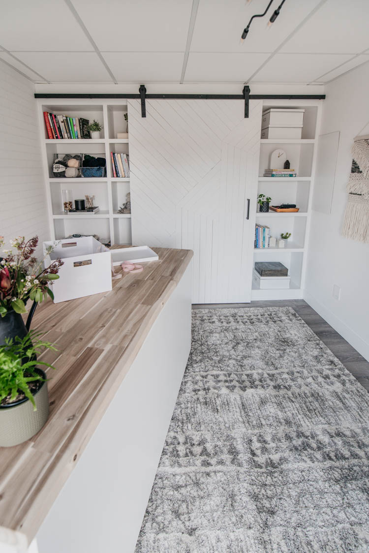 How to store craft supplies! TONS of storage solutions in this DIY office studio