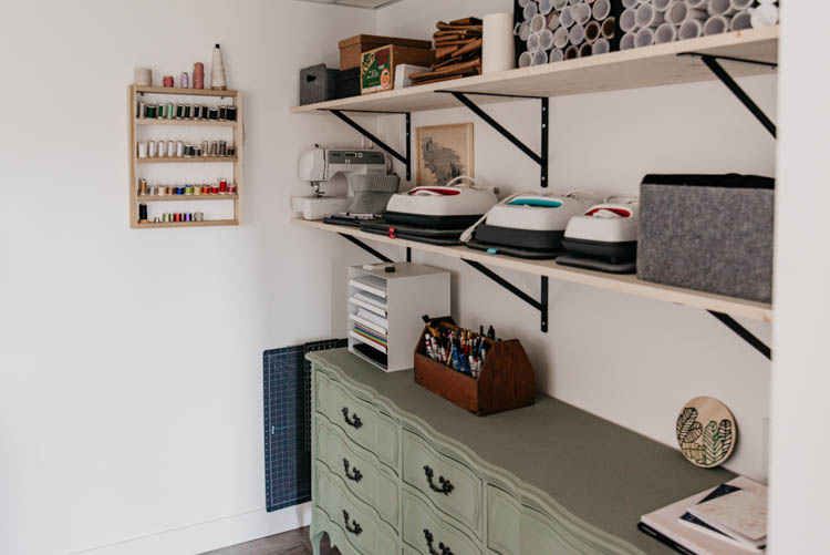 DIY Blogger Office Reveal... tons of pretty storage!