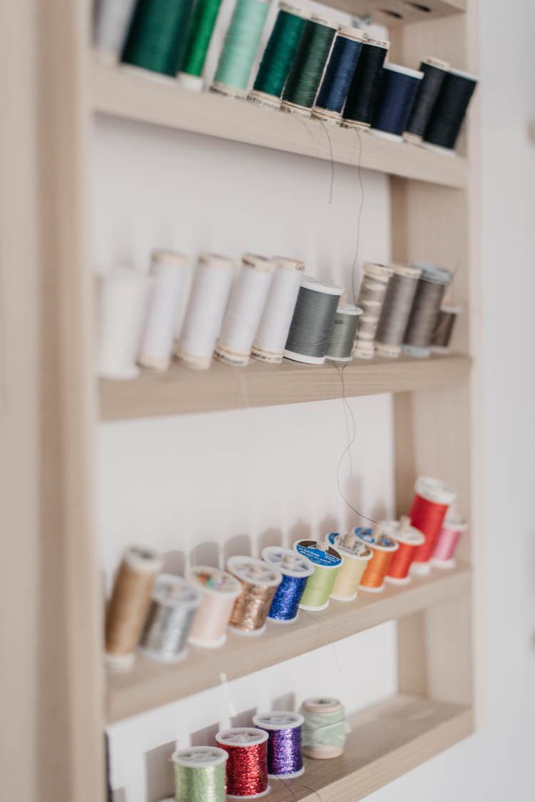 DIY Thread Holder- craft room storage solutions