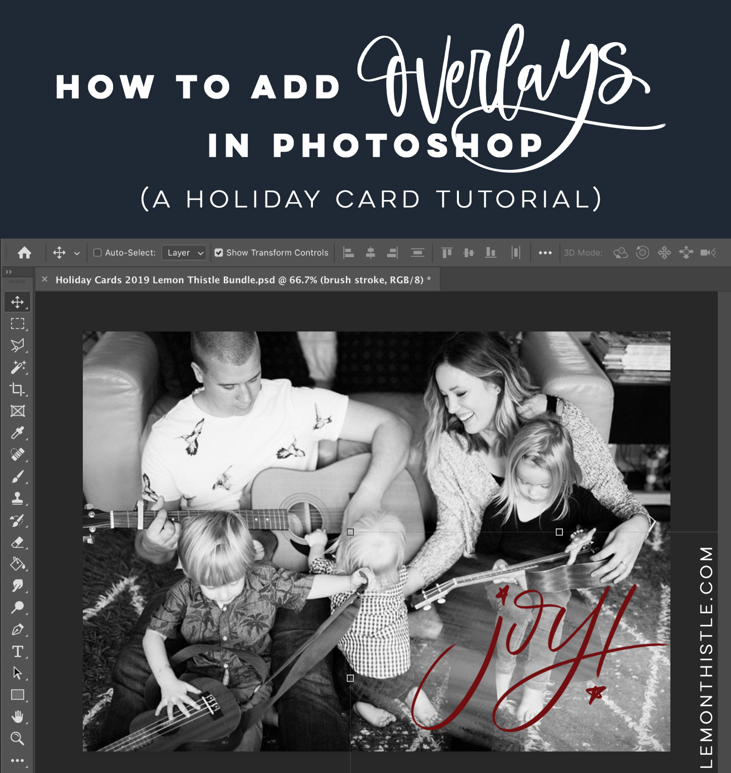 How to add overlays to photos in photoshop (beginner photoshop tutorial)