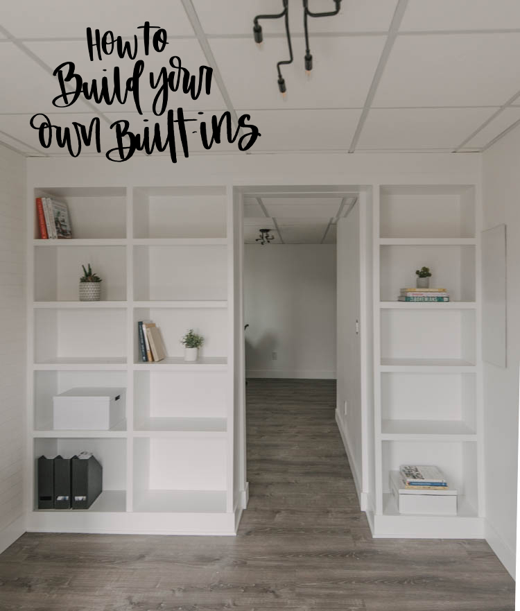How to build your own built in shelving (text overlay)