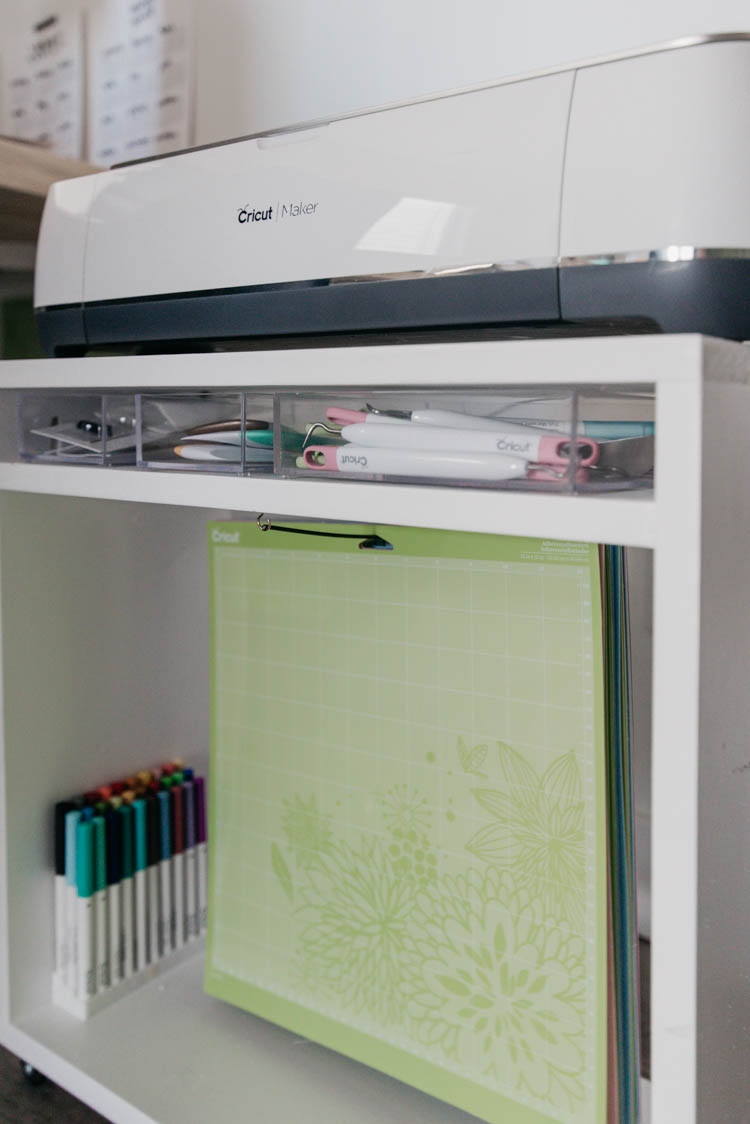 DIY Cricut Storage + Caddy... perfect to keep everything handy and ready to use but tucked out of the way!