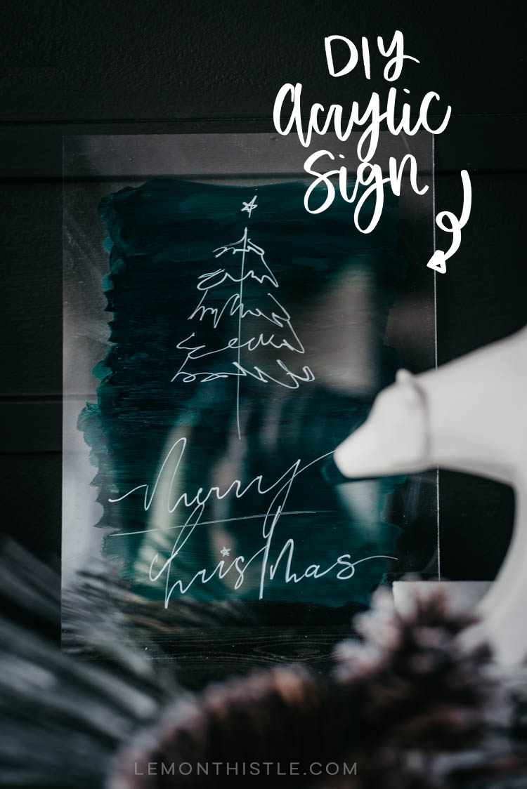 Modern Holiday DIY Acrylic Sign