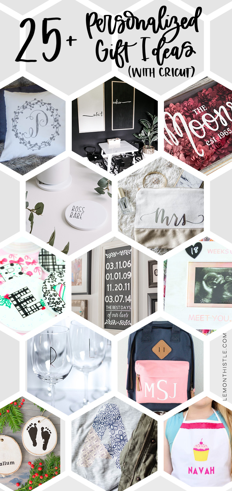 26 Personalized Gift Ideas With Cricut Lemon Thistle