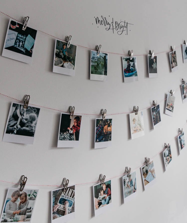 Simple activity advent calendar idea with instant look photos