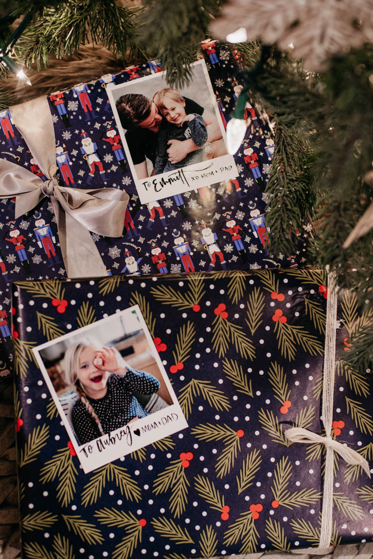 personalized gift wrap idea- with pictures!