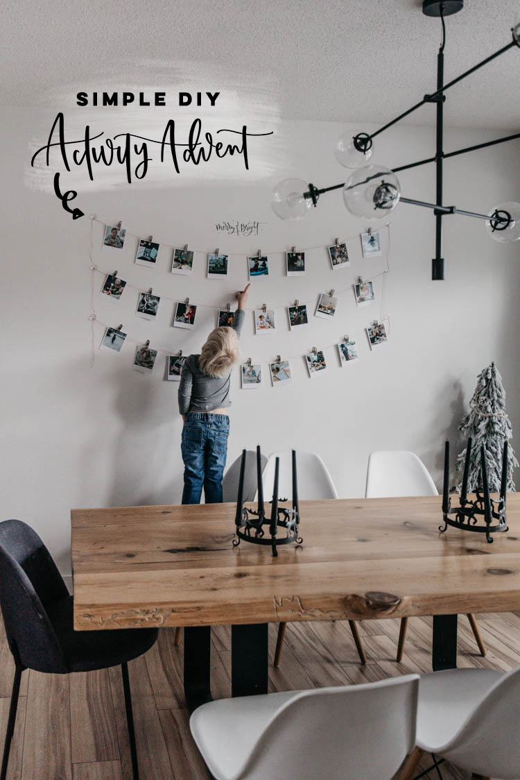 Simple activity advent calendar idea- photo garland