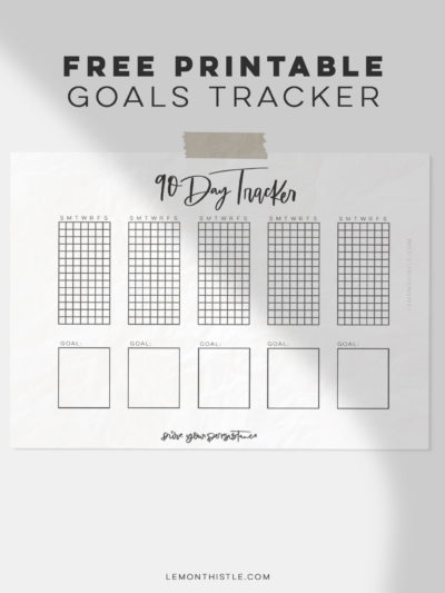 90 day printable habit tracker (free download!)