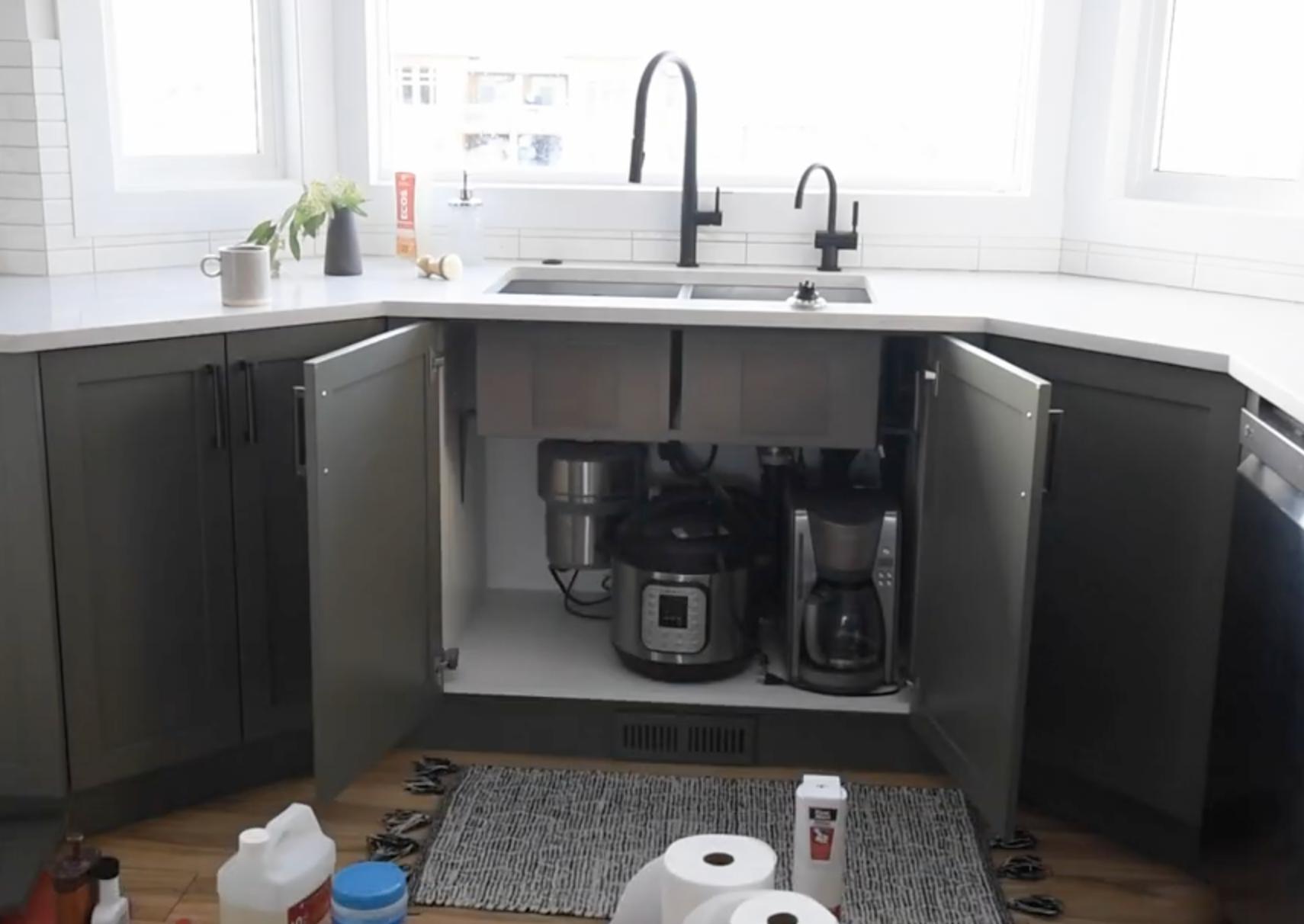 rethinking the space under the kitchen sink