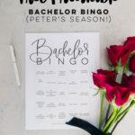 6 Free Printable Bachelor Bingo!