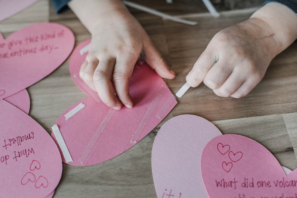 How to make tear away style valentines cards