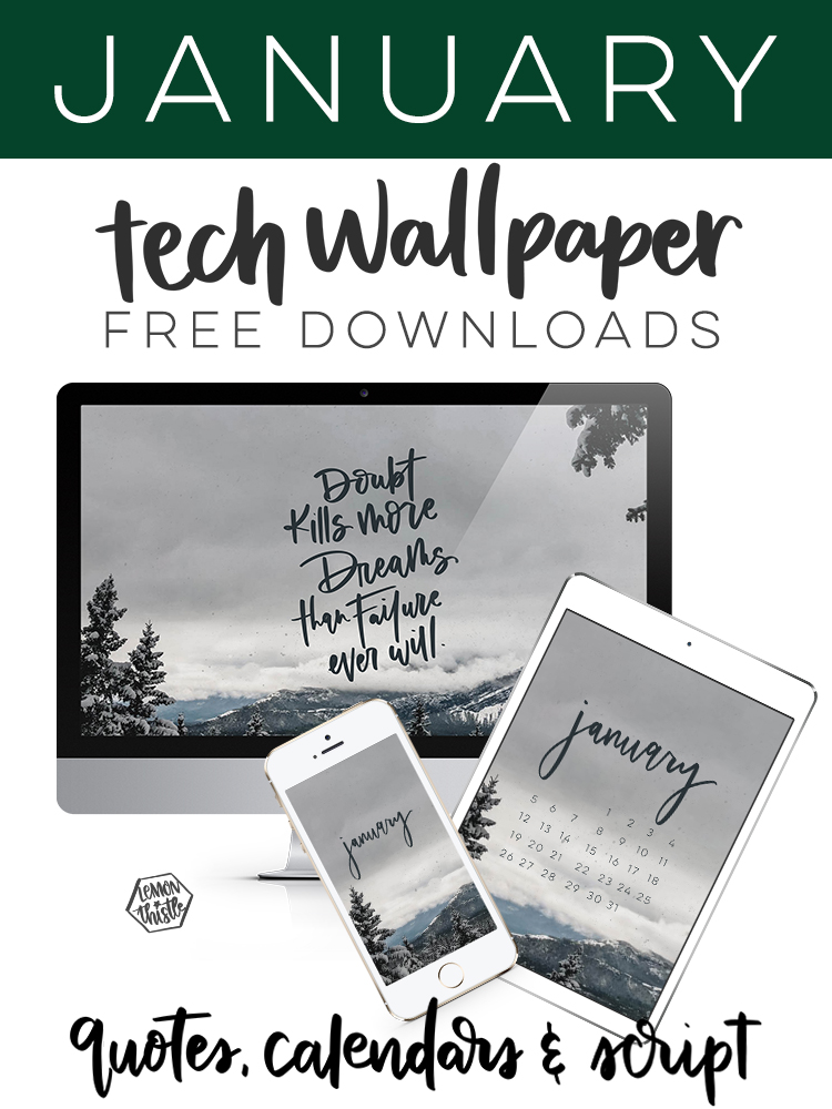 free tech wallpapers for all your devices (mock ups showing the 3 versions for each)