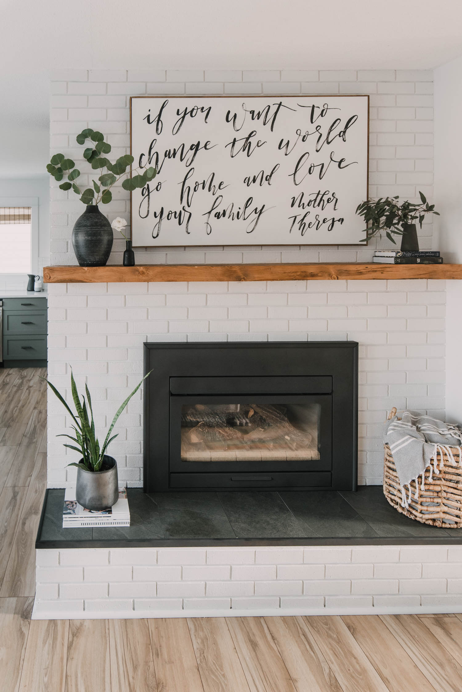 Diy Brick Fireplace Makeover Lemon Thistle