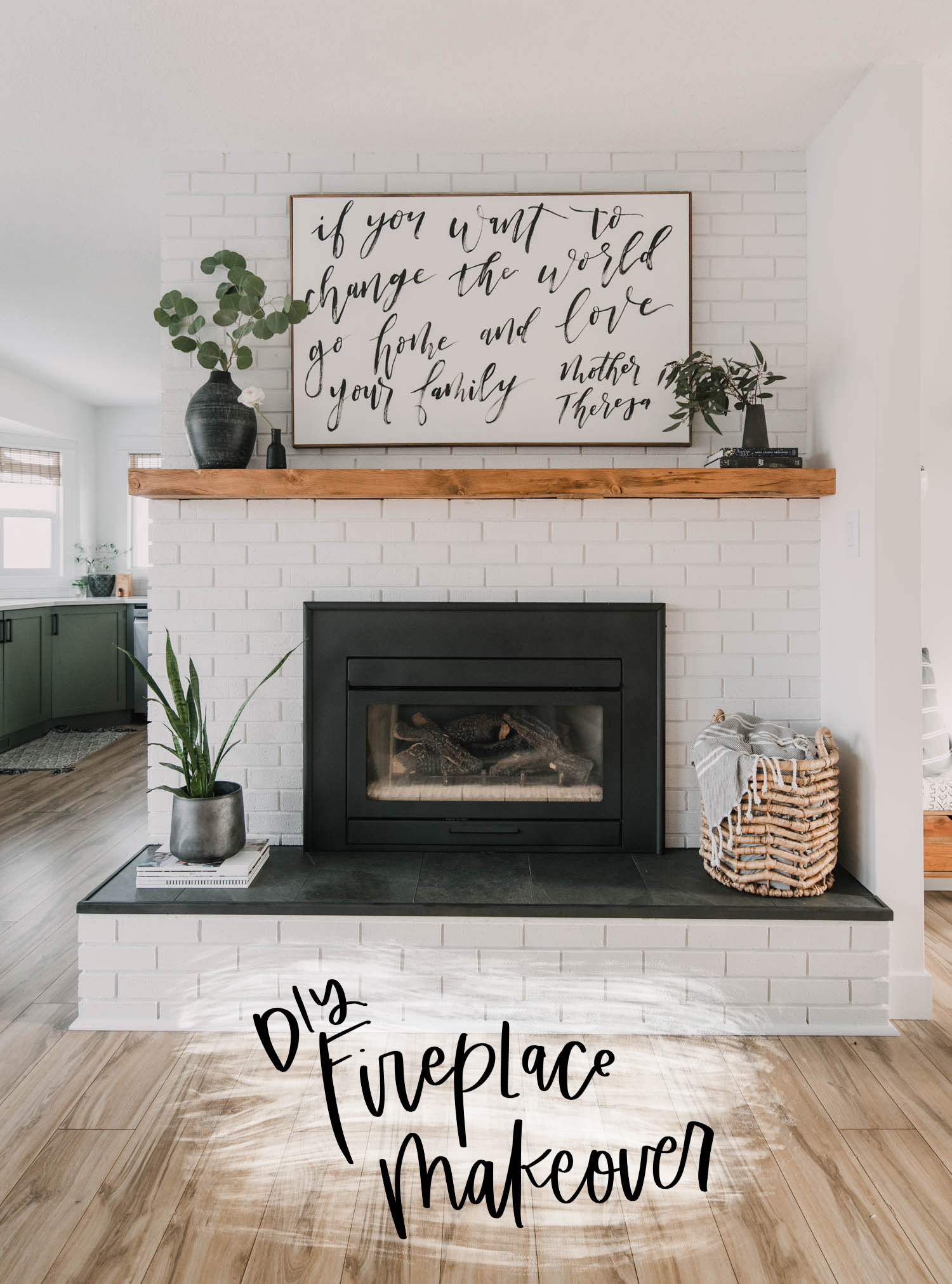 Diy Brick Fireplace Makeover Lemon Thistle