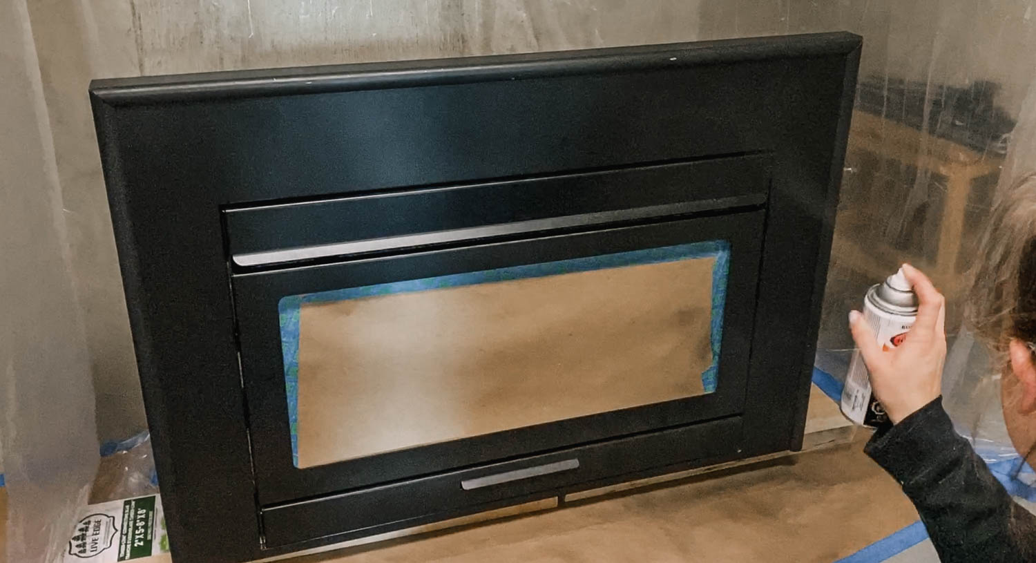 How to paint a gas insert for a fireplace