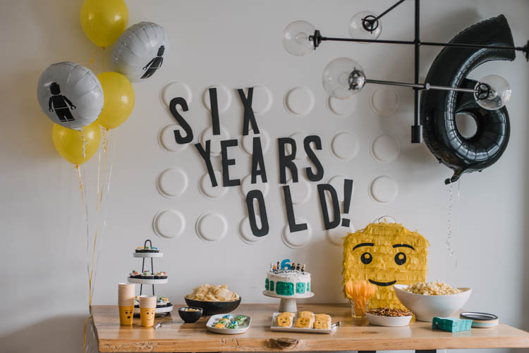 Modern LEGO themed birthday party ideas