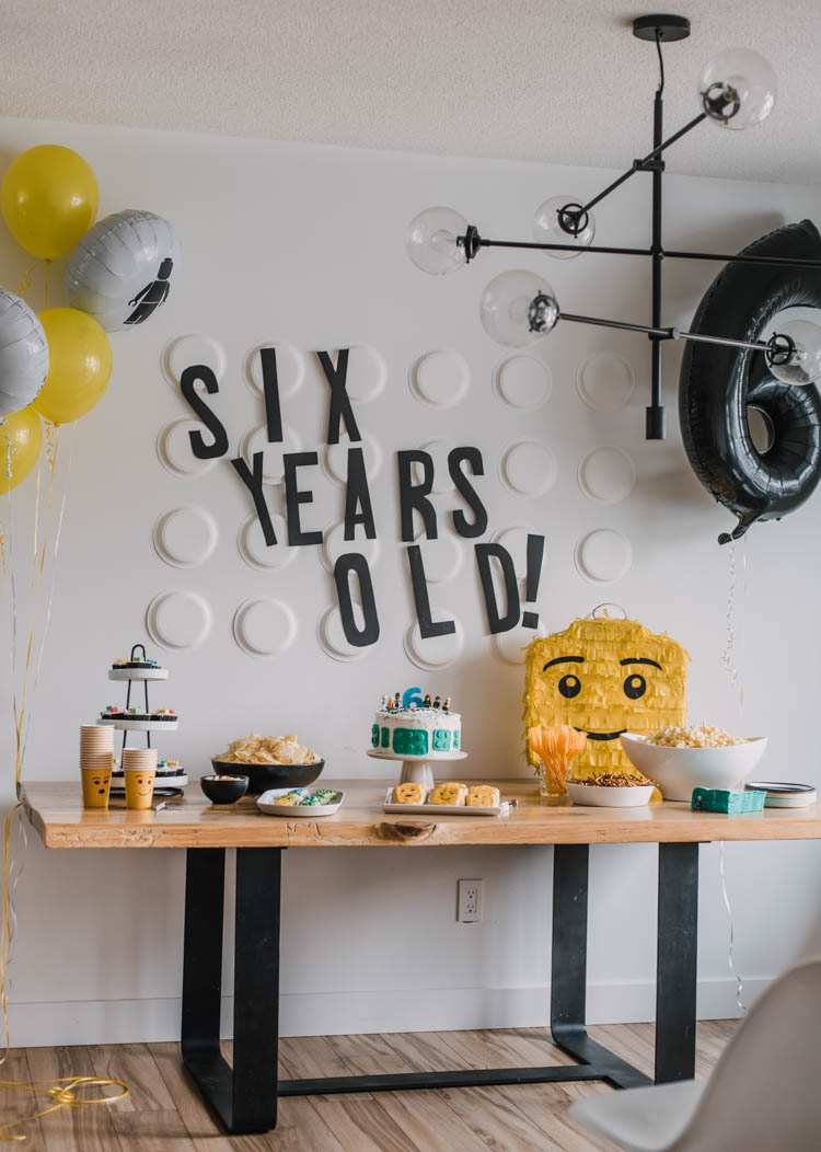 Modern Style but affordable LEGO birthday party