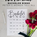 6 Bachelor Bingo Cards for this week's Women Tell All