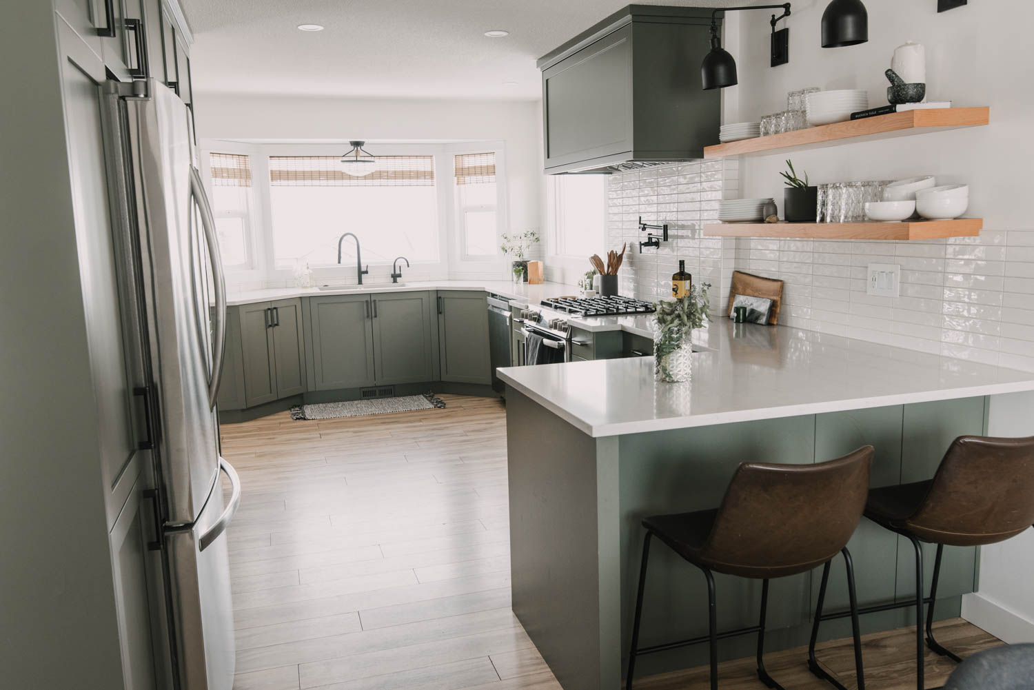 remodelled kitchen one year later
