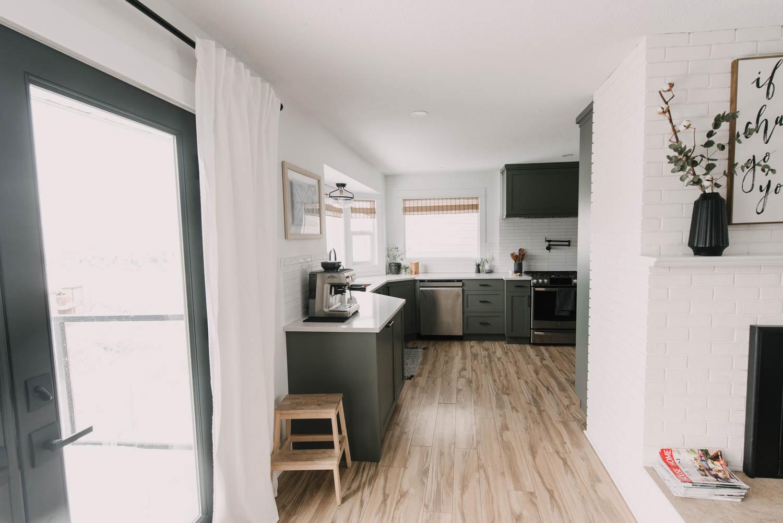 Kitchen remodel incorporating bay window
